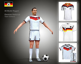 3D asset German Soccer Player Rigged Character