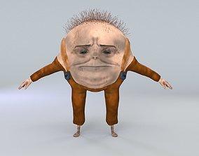 cartoon character humpty dumpty dirty 3D model