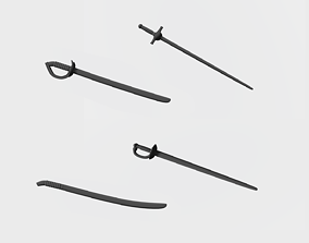 Sabers and swords 3D printable model