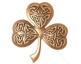 3D printable model Celtic clover ornament CNC