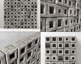 Stone panel cube hole 3D