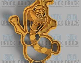 Olaf Frozen Cookie Cutter cutter 3D print model