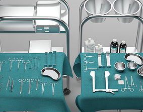 low-poly Surgical Instruments 3D Model