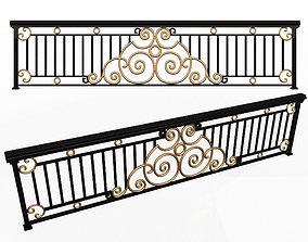 Forging Iron Forged Balcony Railing 06 3D asset