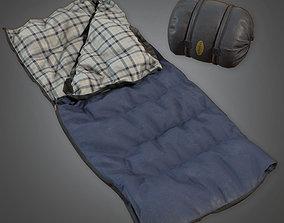 CAM - Sleeping Bag 02 - PBR Game Ready 3D model