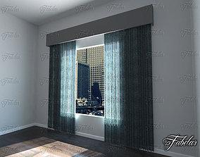 3D Curtains cornice