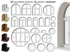Round window set 3D model