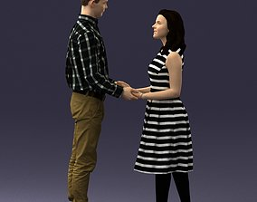 Couple holding hands 0027 3D Print Ready