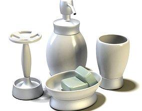 Bathroom Accessories Set 3D