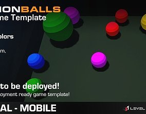 Fusion Balls - Game Template 3D model animated