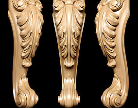 kitchen 3D Classic carved leg