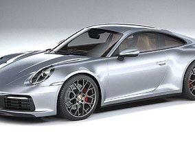 Porsche 911 Carrera 4S 2019 CoronaRender 3D model