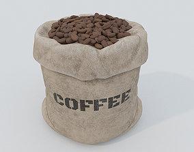 Bag of coffee beans PBR 3D asset