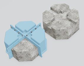 Mold for casting of deck blocks made of concrete 3D print