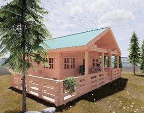 3D model Wood Cottage