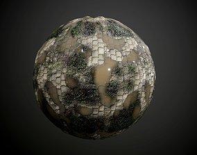 Cobblestone Walkway Ground Seamless PBR Texture 3D model