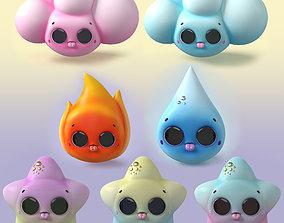 Kavaii Character Collection 3D asset
