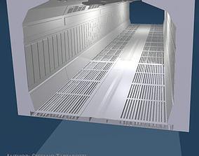 3D model Science-fiction corridor