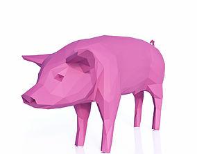3D model Pig Low Poly v2