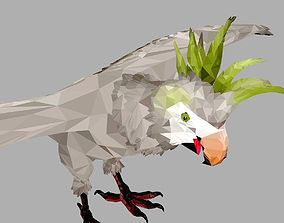 Parrot Low Polygon Art Bird Animal 3D model