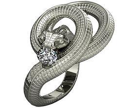 Ring snake 3D print model emerald
