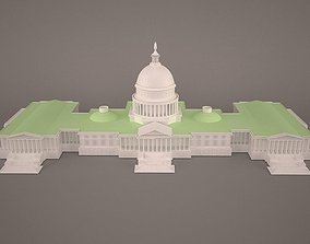 3D model US Capitol Building
