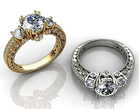3D printable model CT Soliter Diamond Engagement