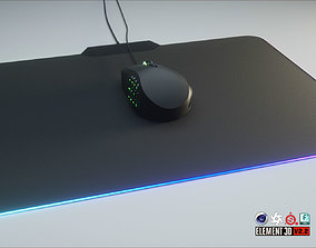 3D asset low-poly RGB Gaming Computer Mouse