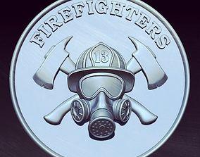 3D printable model Firefighters pendant
