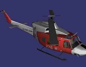 Bell UH-1N Twin Hu 3D model
