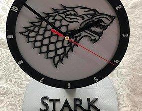 House Stark office Clock 3D printable model