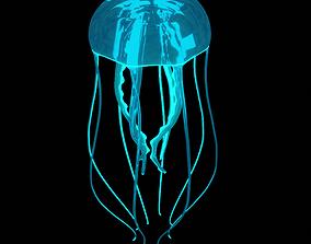 3D model jellyfish glowing