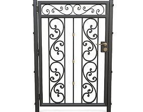 Wrought iron gate 08 3D