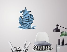 Old ship 3D wall decoration