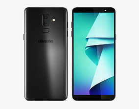 3D model Samsung Galaxy J8 2018 Black