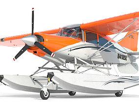 3D model Light Airplane Maule hydroplane interior
