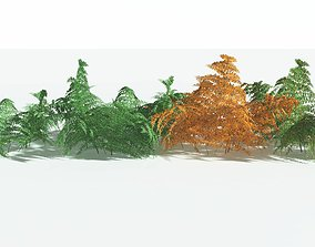 3D EVERYPlant Common Bracken EXT --34 Models--