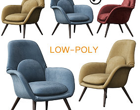 Swoon Lounge - Fredericia Furniture 3D model