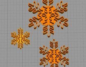 Cookie Cutter Snowflake Copo de Nieve 3D printable model