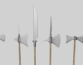 halberds and axes 3D model