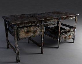 Rusty workbench 3D model