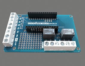 Arduino Mkr Relay Shield Circuit Board 3D asset game-ready