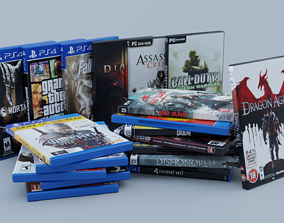 3D asset Vol1 DVD Pack of 20 PC PS4 Popular Games