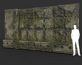3D model Low poly Mayan Inca Ruin Temple Modular 02-5k