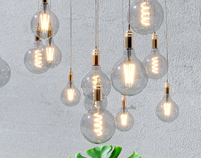 4 models of decorative light bulbs electric