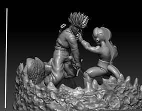 3D printable model Mecha Frieza VS Future Trunks all