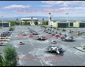 3D model Russian airbase