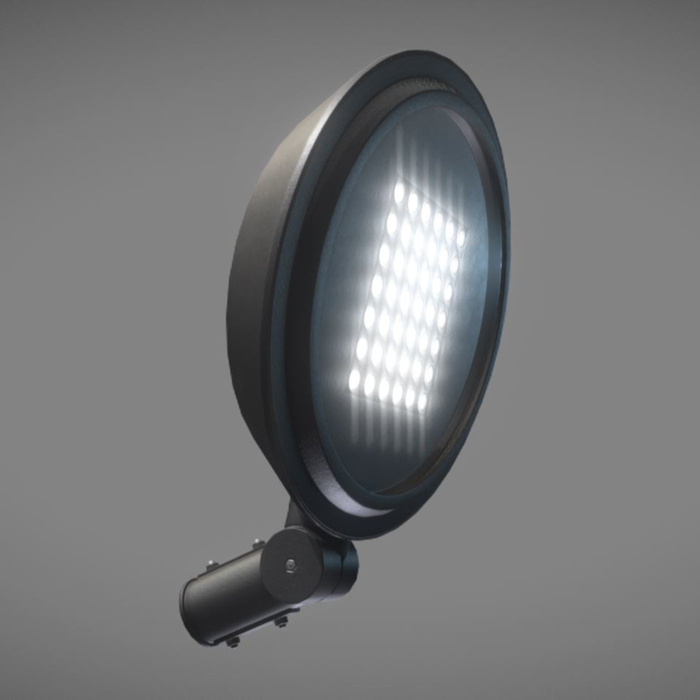 Sci-Fi City Light - Street Light 15 (Low-Poly Version) - Blender-2.80.1