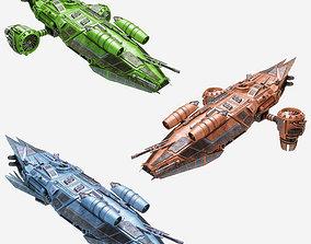 3d pack of Spaceships