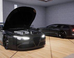 3D model Generic Sports GT 2 Door Shooting